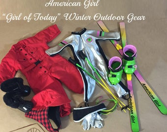 "American Girl  ""Girl of Today"" Winter Outdoor Gear: Downhill Ski Gear I  and Ski Suit  and The Dogsled Outfit"