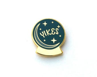 Yikes Crystal Ball Enamel Pin
