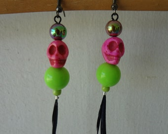 Voodoo    Queen Feathered Earrings    item 1607