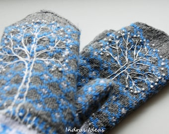 Winter style mittens - warm and beautiful