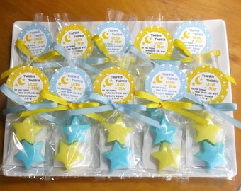 Twinkle Little Star Baby Shower Favors - Twinkle Twinkle Little Star First Birthday, Star Party Favors - Set of 10