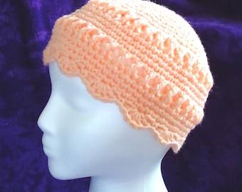Crocheted Spring Skull Cap, accessories, hats