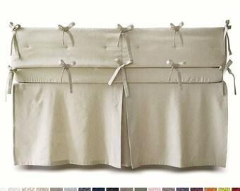Linen crib bumper, 16 colors, Custom crib bumper, Crib bumper boy, Crib bumper girl, Linen baby bedding, Crib bedding, Linen cot bumper