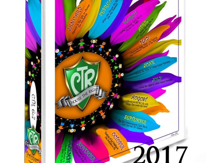 PRINTABLES CTR Binder Covers Primary 2017 Theme  Choose The Right Plus Monthly and Weekly Sharing Time Lesson Schedules for Back