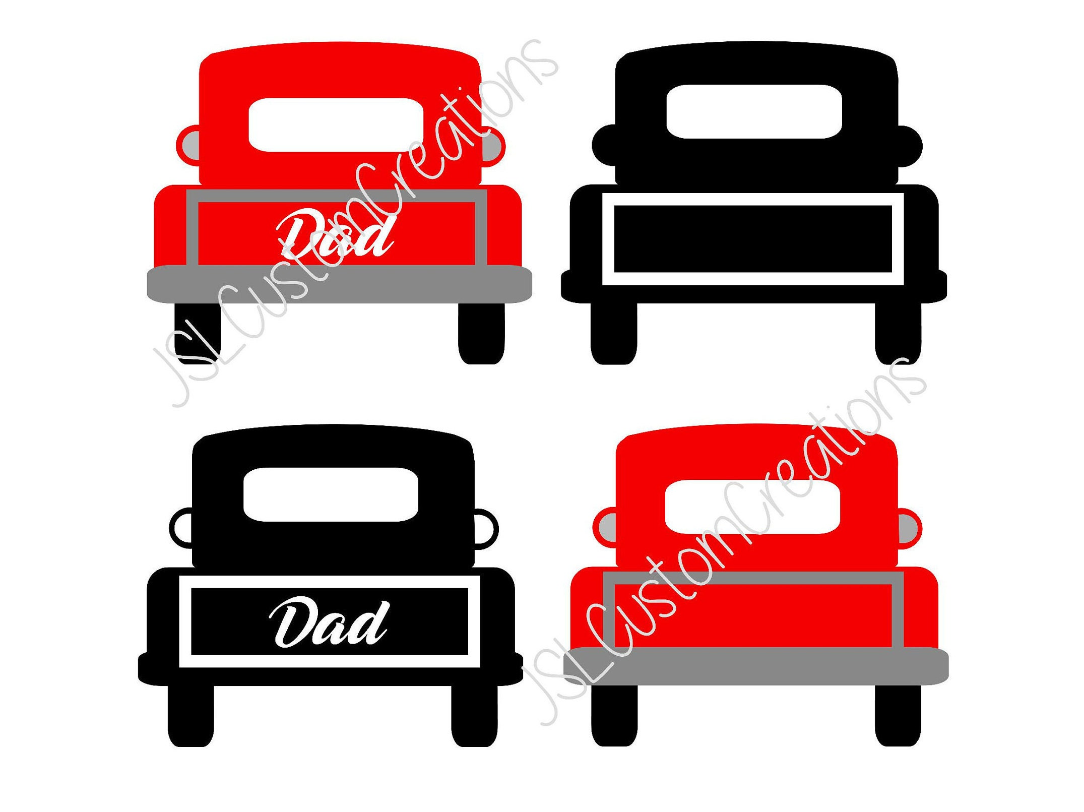 Dad Vintage Truck SVG EPS DXF Png Cut File for Silhouette