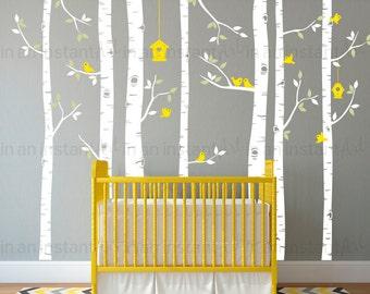Woodland Birch Tree Wall Decal | Woodland Animals Wall Art | Sticker Pack | Custom Nursery | Kids Wall Stickers | Wall Decal Sticker | 144