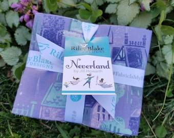 SALE 18 Fat Quarters NEVERLAND fabric Riley Blake Designs by Jill Howarth Peter Pan