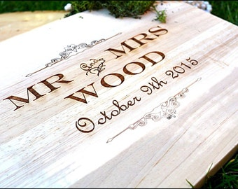 Personalised chopping board ,Mr and Mr, Mrs and Mrs, Mr and Mrs,  Chopping Board, Wedding Gift,5th Anniversary Gift