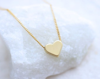 Delicate necklace, Gold Heart Necklace, OR Silver Heart necklace. Small gold Heart Necklace,  Heart Jewelry.