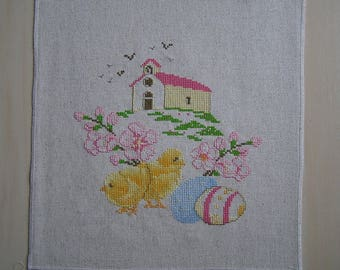 Yellow Easter embroidery