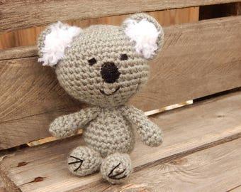 Baby Koala; Handmade Stuffed Koala; Soft and Squishy Animal; Crocheted Koala; Baby Koala Bear; Valentine's Day Gift; Gift for Her