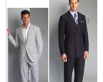Pick A Size - Vogue Men's Suit Pattern V8988 - Men's Single or Double-Breasted Suit Jacket and Pants - Vogue Men Pattern