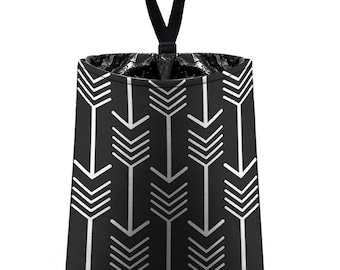 Car Trash Bag // Auto Trash Bag // Car Accessories // Car Litter Bag // Car Garbage Bag - Arrows (black) // Car Organizer