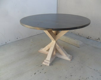 Table, Dining Table, Kitchen Table, Reclaimed Wood, Round Table, Rustic, Handmade, Shabby Chic,