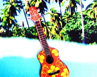 Necklace THE HAWAIIAN GUITAR, miniature guitar, musical instrument, island life by The Sausage