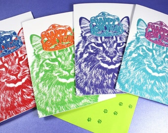 ADD Custom New Year's Cards to Any Pet Portrait Order