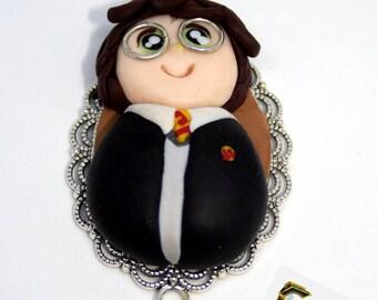 Polymerclay doll necklace,  Harry Potter fan art.