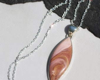 The Power of Pink - Peruvian Pink Opal Sterling Silver Necklace