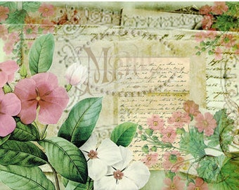 Flowers Decoupage Paper A4 Decoupage supplies Scrapbooking Paper Craft Projects Floral Patterns #426