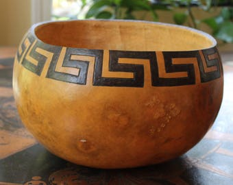 Native American Artistically Painted Gourd