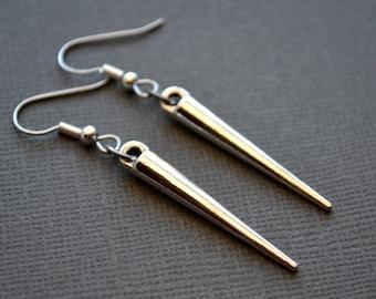 Silver Spikes . Earrings