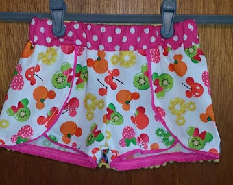 Disney Inspired Coachella Shorts, Girls Disney shorts, Coachella shorts, Disney world shorts, Minnie Fruit, princess, tsum tsum,  toy story