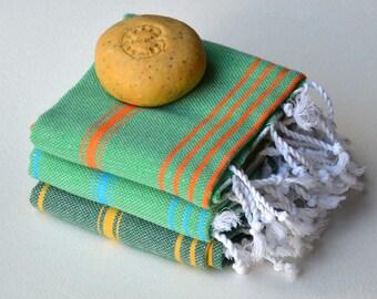 Express Shipping 3 TEA TOWEL / PESHKIR set- 3 Baby Towel / Turkish Towel / Hand Towel / Head Towel / Tea Towel / Kitchen towel / Dish Towel