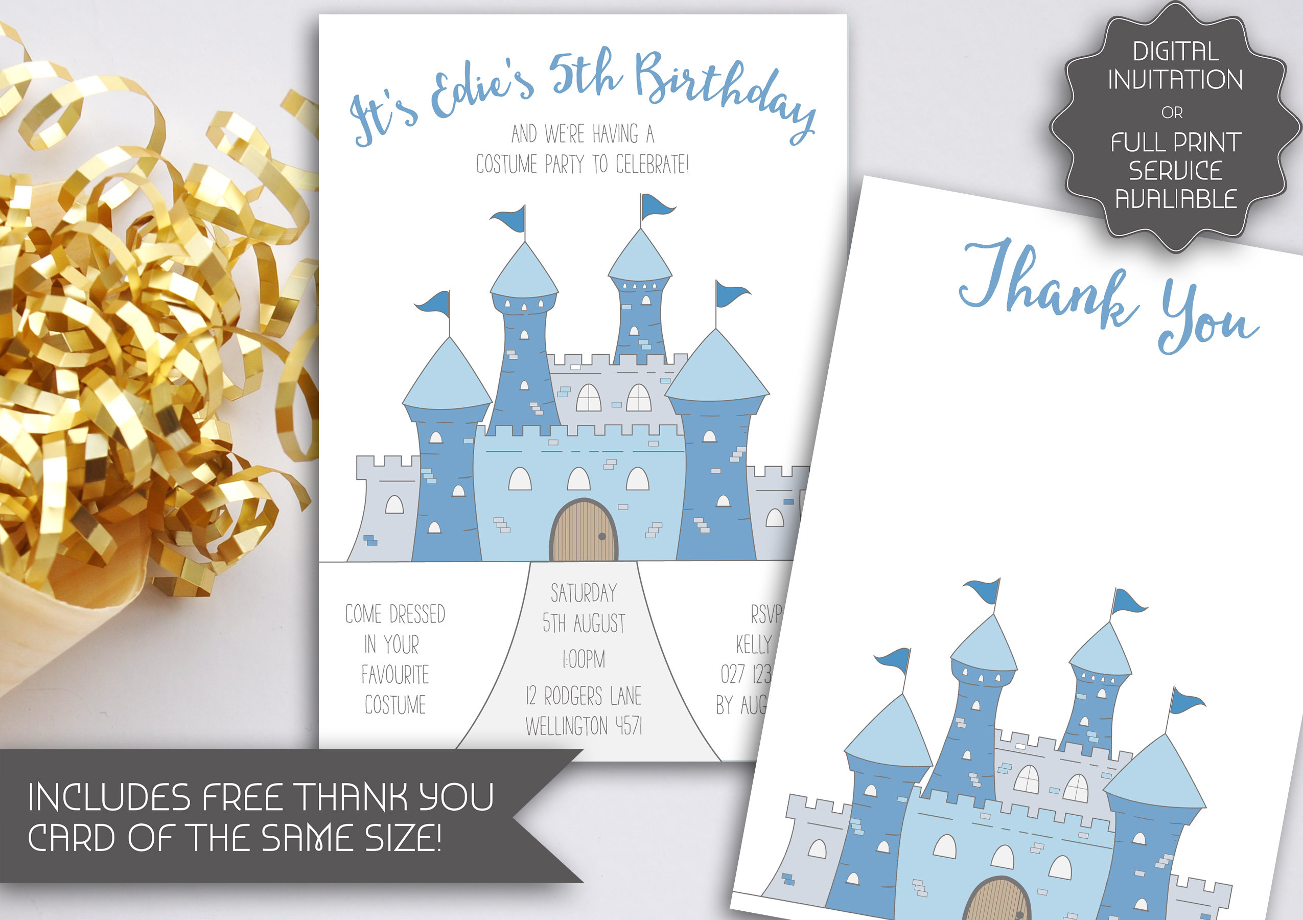 Castle birthday invitation blue castle princess birthday castle birthday invitation blue castle princess birthday princess party costume party dress up fairytale birthday party 044 stopboris Images
