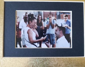 The Proposal photo, 8x10  gold & black mat photo