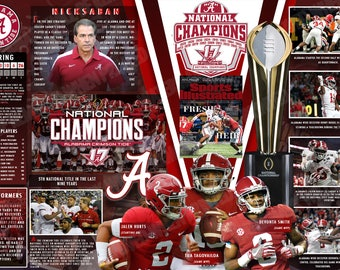 Alabama Tops Georgia -- 2017 National Championship Commemorative Poster