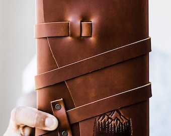50% OFF --  Personalized Leather Journal -- Explore More - Handmade Portland, Oregon... Sale TODAY!