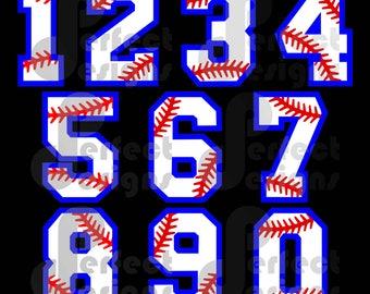 Baseball Laces Numbers Baseball Mom Softball Mom Graphic Design Art Player Silhouette Cricut Cameo Scan N Cut File - eps dxf svg jpg jpeg