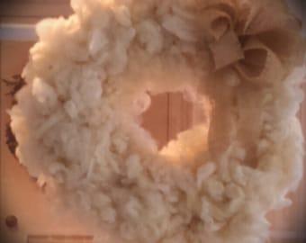 Fluffy Wool Wreath