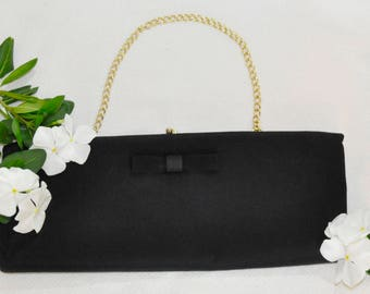 Black Clutch With Bow