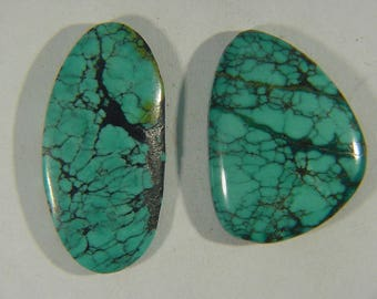 Genuine Natural Chinese Turquoise Lapidary Freeform Cabochon 9522C