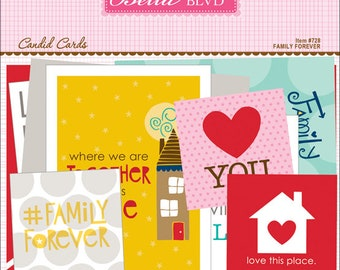 Bella Blvd Family Forever Candid Cards, Scrapbook Journaling Cards