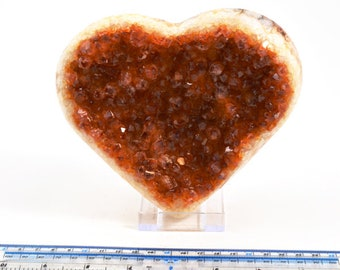 Citrine Heart From Brazil