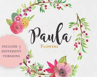 Premade Logo · Watercolor flowers Logo · Photography Logo · Premade Logo Design · Custom Logo · Watermark · Branding Package · Etsy Branding