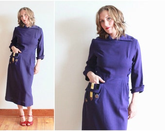 "1940s wartime dress | bust 40"" waist 28"" 