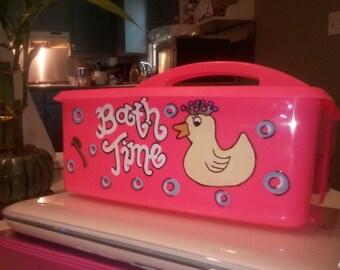 Personalized Bath Caddy- Princess Duck