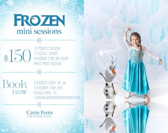 Frozen Mini Session psd template photography marketing