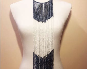 African Beaded Waterfall Necklace