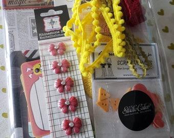 Paper Craft Inspiration Kit - Studio Calico - Simple Stories - Project Life - Jenni Bowlin - Trims Buttons - MAGIC