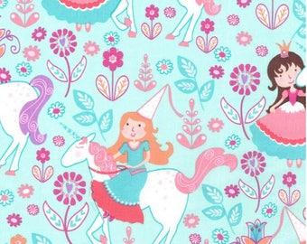 Baby Girl Blanket, Princess Minky Blanket, Fairytale Princess and Unicorns, Toddler Girl Blanket, Personalized Girl Blanket