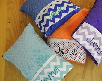 Personalized Minky Travel Pillows