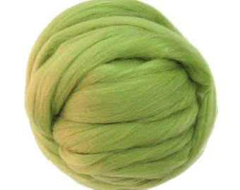 Merino / Silk  Roving, (Caipirinah)