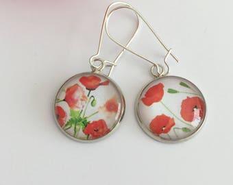 "Earrings ""poppies"""