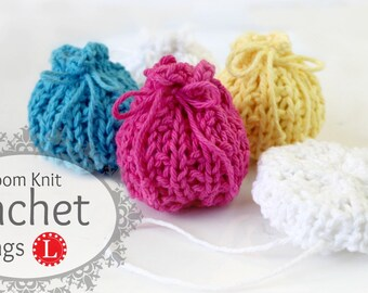 Loom Knit PATTERNS Bags / Sachet / Gift / Pillows / Scrubbies  - Beginner Easy with Step by Step Video Tutorial by LoomaHat