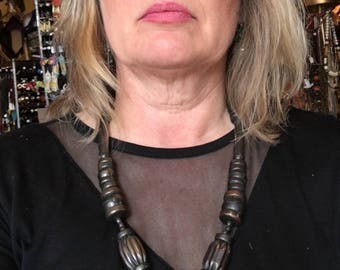 """Vintage Retro Copper and Brass Necklace 24"""" Length"""