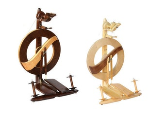 Free Shipping  on Kromski Fantasia Spinning Wheel, In Clear, Walnut Stain, or Unfinished.